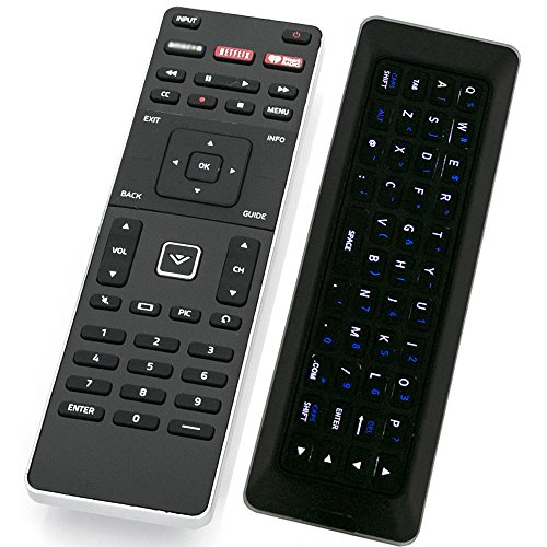 XRT500 Qwerty Keyboard Remote Control with Backlight Compatible with Vizio TV M43-C1 M49-C1 M50-C1 M55-C2 M60-C3 M65-C1 M70-C3 M75-C1 M80-C3 M322I-B1 M422I-B1 M492I-B2 M502I-B1 M552I-B2 M602I-B3 M652I