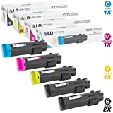 LD Compatible Toner Cartridge Replacements for Dell H625 H825 (2 Black, 1 Cyan, 1 Magenta, 1 Yellow, 5-Pack)