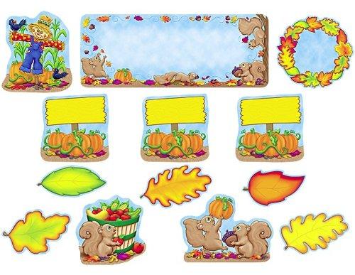 Teacher Created Resources Fall Mini Bulletin Board (5016) (Bulletin Scarecrow Board Set)