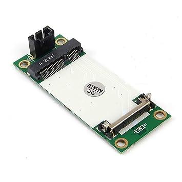 JMT Tarjeta de Adaptador Mini PCI-E inalámbrica a USB de 4 Pines ...
