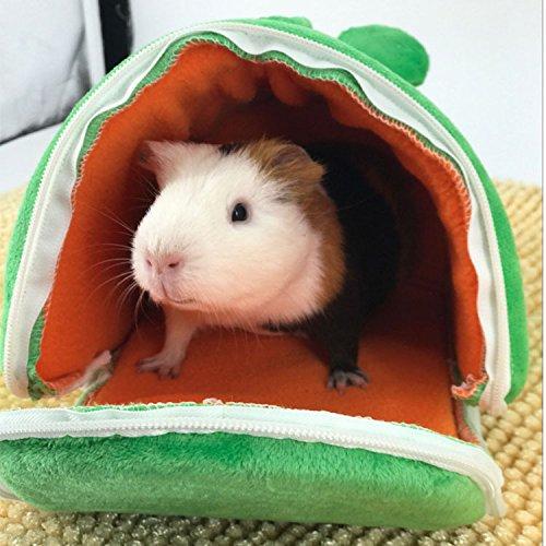 SODIAL Cartoon Frog Hamster House Inverno Caldo Hamster House Bed Pieghevole Simpatico Animale Domestico Coniglio Gabbie per Criceti Ratto Scoiattolo Cavia Nido Vivente