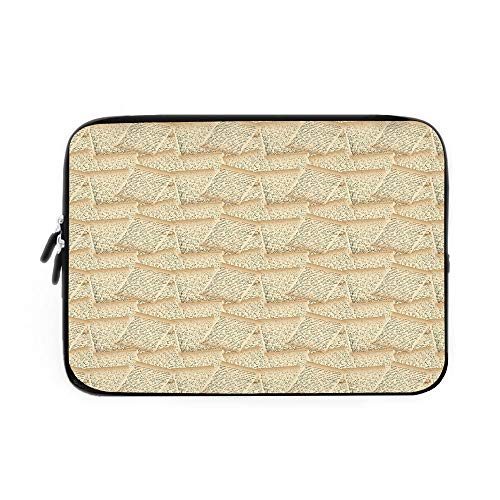 Abstract Laptop Sleeve Bag,Neoprene Sleeve Case/Vintage Handwriting Letters Old Paper Effect Old Fashioned Communication Decorative/for Apple MacBook Air Samsung Google Acer HP DELL Lenovo As