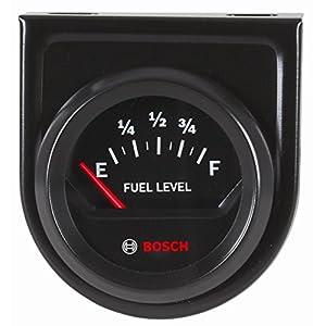 "Bosch SP0F000056 Style Line 2"" Electrical Fuel Level Gauge (Black Dial Face, Black Bezel)"