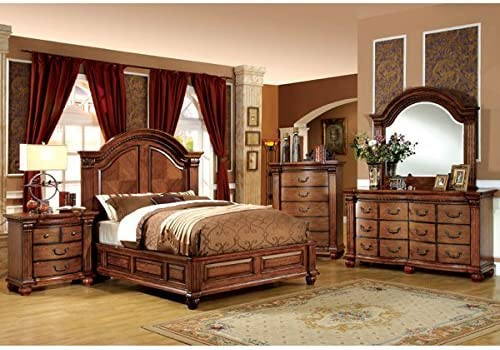 247SHOPATHOME Bedroom set, Queen, Oak