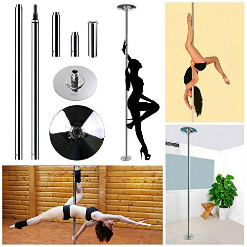 Young Professional Spinning Dancing Pole 45mm Removable Dancing Pole Kit Portable Fitness Dance Sport Exercise Club Party Pub Home Dance