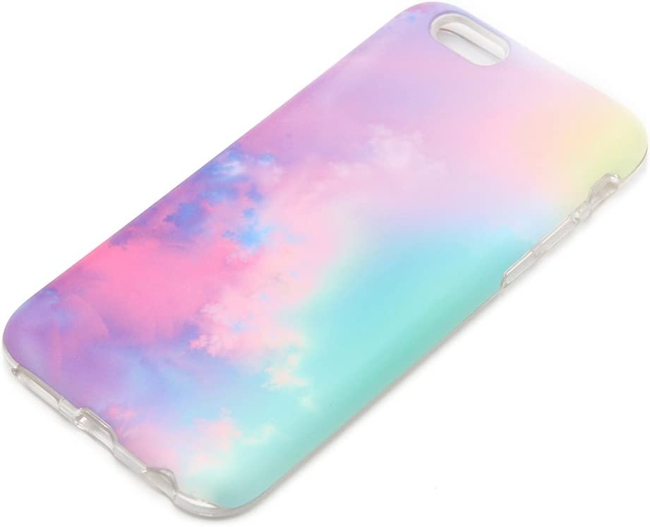 uCOLOR Pastel Gradient Case Compatible with iPhone 8 Compatible with iPhone 7/6S/6/ SE 2nd (2020) Abstract Cloud Protective case for iPhone 6S/6/8/7/SE 2nd Durable Soft TPU Case