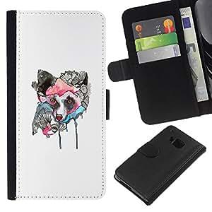 Stuss Case / Funda Carcasa PU de Cuero - Lobo japonesa - HTC One M7