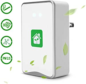 Air Purifier for Home, Plug-in Odor Eliminator, Air Lonizers for Bedroom Mini Air Cleaner Portable Deodorizer Air Freshener to Remove Pets Smell, Smoke, Allergies and Smoke Dust No Filter(Square)