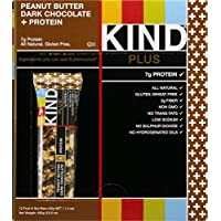 KIND Plus, Peanut Butter Dark Chocolate + Protein, Gluten Free Bars, 1.4 Ounce, 24 Count