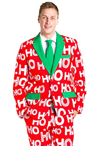 Tipsy Elves Men's Ho Ho Ho Ugly Xmas Suit - Red and, used for sale  Delivered anywhere in USA