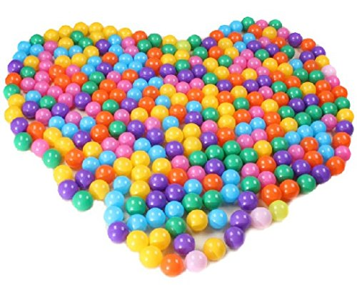 100 PCS Colorful Ocean Balls for Babies Kids Children Soft Plastic Birthday Parties Events Playground Games Pool by The Flash Store