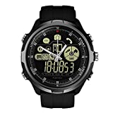 Lvillage 1.24 inch Zeblaze Vibe 4 Hybrid IP68/50M Water Resistant Rugged Anti-Lost Smartwatch Heart Rate Mechanical Smart Watch Men (Gray)