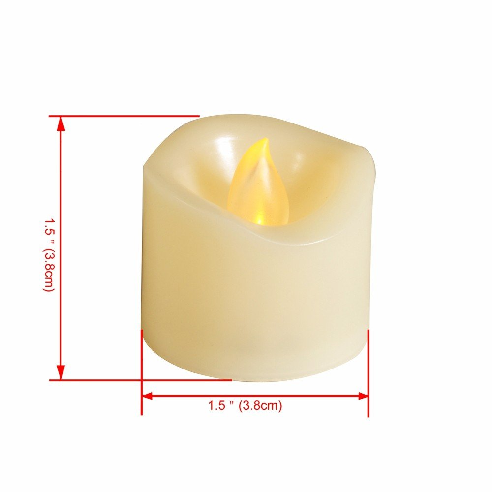 Led Tealights Candles Remote Control Timer Tea Lights Candle With Realistic Flicker And Circuit Board Style Flameless Flickering Votive Outdoor Wedding Decorations Unscented Amber Yellow