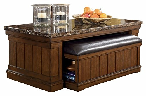 Ashley Furniture Signature Design - Merihill Coffee Table - Rectangular - Medium Brown
