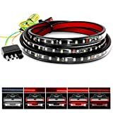 "Nilight Truck Tailgate Light Bar 60"" Flexible Strip Running Turn Signal Brake Reverse Taillight For Pickup Trailer SUV RV VAN Car Towing Vehicle,2 Years Warranty"