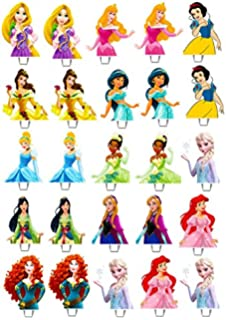 graphic relating to Disney Princess Cupcake Toppers Free Printable identified as 24 Disney Princess Edible Cupcake/Fairy Cake Toppers **Best