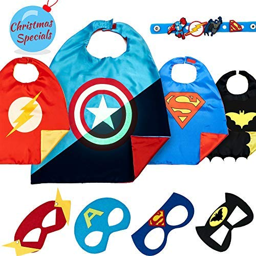 Dropplex Superhero Capes for Kids - Super Hero Toys & Costumes Birthday Party Supplies ()