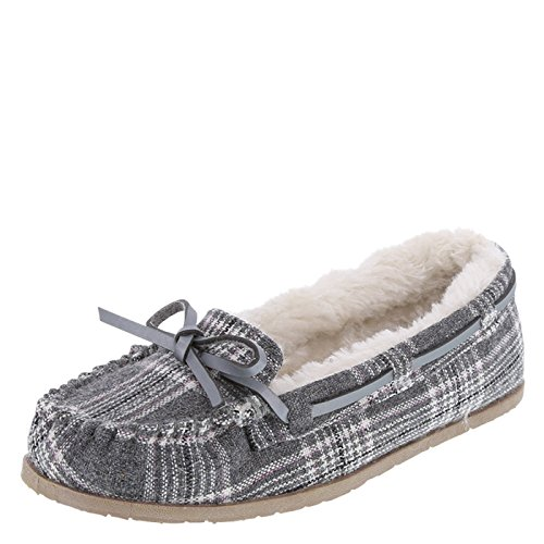 Airwalk Girl's Grey Plaid Girls' Flurry Moc 5 (Flurry Moc)