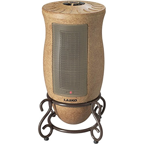 Designer Series Automatic Overheat Protection Oscillating Brown Ceramic Heater Ceramic Heaters Lasko Ceramic Heater