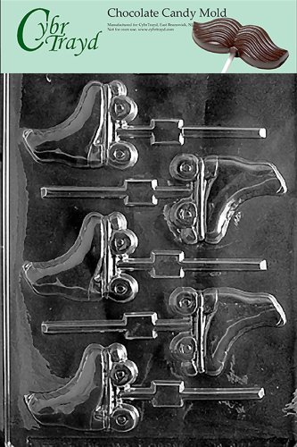 Roller Skate Decorations (Cybrtrayd S001 Roller Skates Chocolate Candy Mold with Exclusive Cybrtrayd Copyrighted Chocolate Molding)