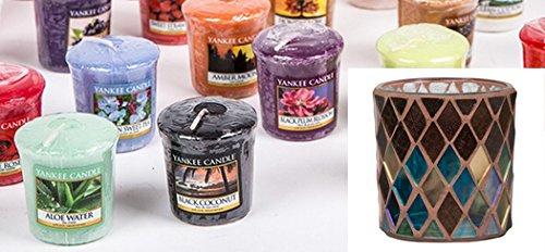 YANKEE CANDLE Mix von 15 Votivekerzen 1x Votivehalter Autumn Mosaic