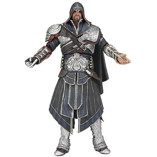 "Assassin's Creed Brotherhood Ezio 7"" Action Figure (Onyx Costume Hooded) by NECA"