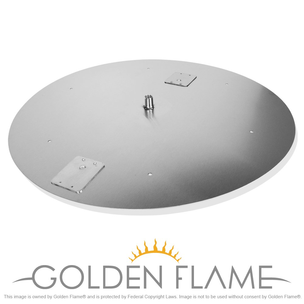 24'' Round Flat Fire Pit Pan (304 Series SS) for use w/18'' Round Fire Ring Burner
