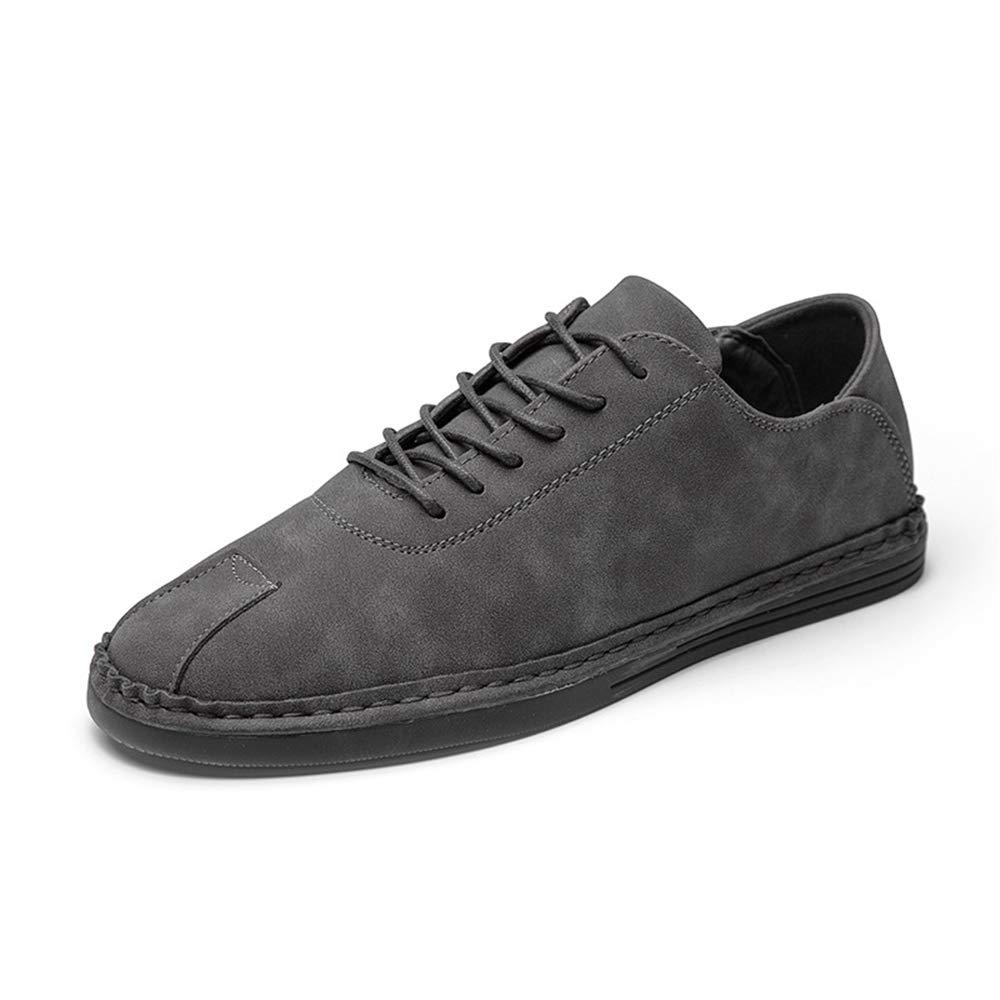 Qiusa Driving Schuhe Non für Männer Casual Breathable Non Schuhe Slip Breathable Durable Lace Loafers (Farbe : Grau, Größe : EU 40) Grau 444ded