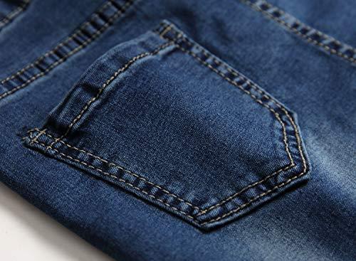 6a0aff072088 FREDD MARSHALL Boy's Light Blue Skinny Fit Ripped Destroyed Distressed Stretch  Slim Jeans Pants, Dark