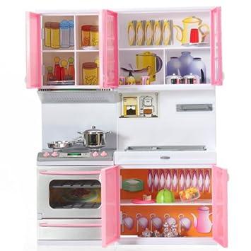 Baby-Koch Kochen Küche Pretend-Schrank Spielzeug Herd Kochgeschirr ...