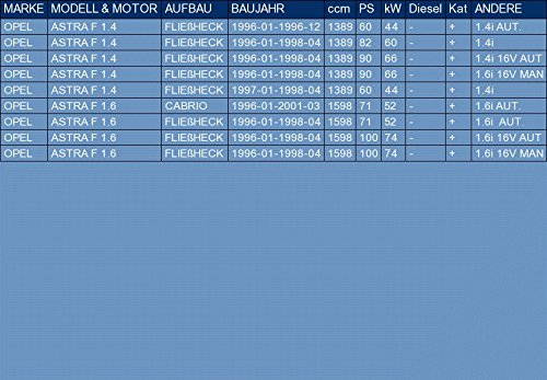 OPEL ASTRA F 1.4 1.6 HATCHBACK CABRIO 60//82//90//71//100hp 1996-2001 Silencioso Trasero el kit de montaje completo