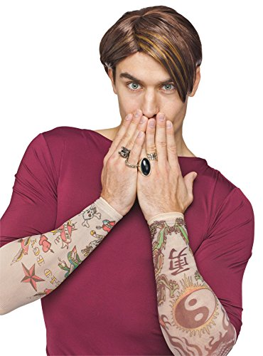 Stefon Snl Costume (UHC Adults Snl Saturday Night Live Stefon Assymetrical Cut Wig Costume Accessory)