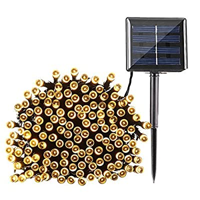 Qedertek Solar String Lights 72ft 200 LED Fairy Christmas Lights
