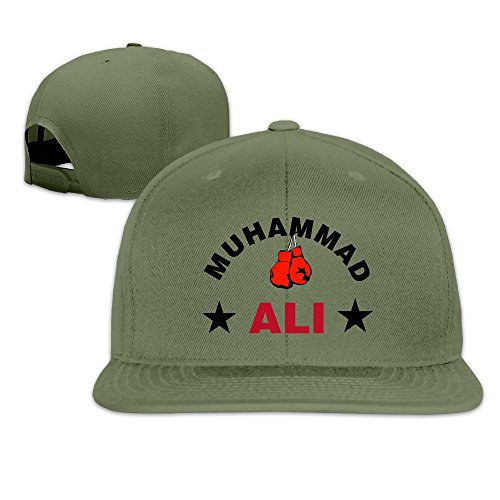 Greatest Ali With Boxing Gloves Snapback Hats Flat Brim Baseball Cap