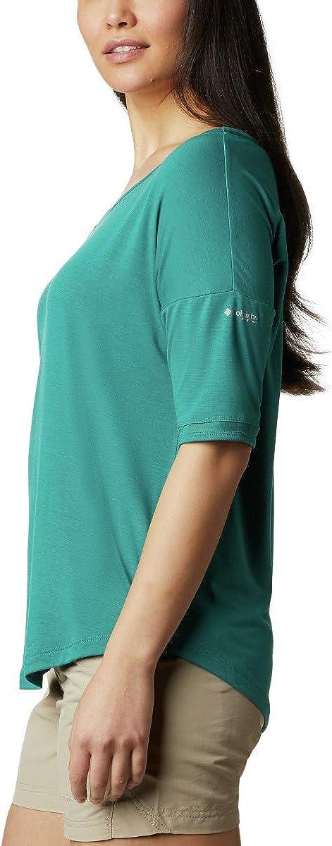 Columbia Women/'s PFG Slack Water Knit 3//4 Sleeve Shirt Sun Protection