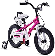 RoyalBaby Kids Bike Boys Girls Freestyle Bicycle 12 14 16 inch with Training Wheels,16 18 20 inch with Kickstand Child's Bik