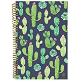 "Bloom Daily Planners 2018-2019 Academic Day Planner - Monthly Weekly Datebook/Calendar Book - Inspirational Dated Agenda Organizer - (August 2018 - July 2019) - 6"" x 8.25"" - Navy Cacti"