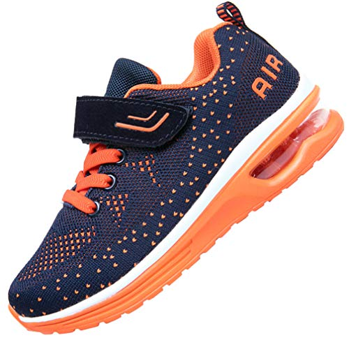 JARLIF Kids Athletic Tennis Running Shoes Breathable Sport Air Gym Jogging Sneakers for Boys & Girls (13.5 M US Little,Kid Orange)