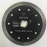 ALSKAR DIAMOND ADLCPM 7 inch Super Thin Diamond Saw Blade for Cutting Porcelain Tiles Granite Marble Ceramics (7')