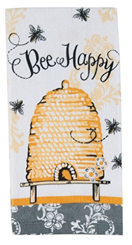 Montana Dish Towel (Kay Dee Designs Cotton Terry Towel, 16 by 26-Inch, Queen Bee)