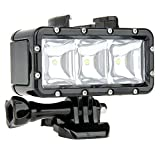 niceEshop(TM) Waterproof Dimmable LED Video POV Flash Fill Night Light for GoPro Xiaoyi(Black)