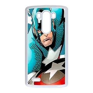 LG G3 Cell Phone Case White Captain America in Comics JNR2233024