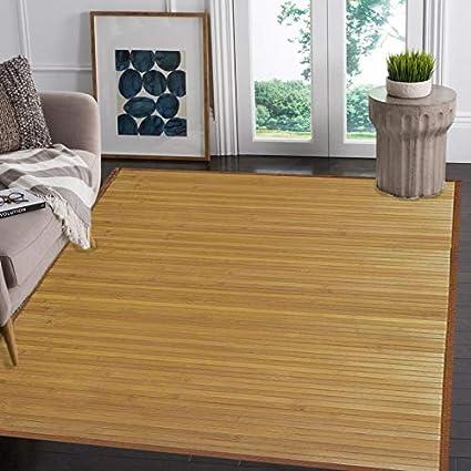 Amazon Venice Natural Bamboo 5 X 8 Floor Mat Bamboo Area Rug