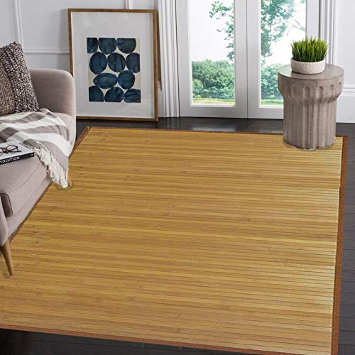 (Venice Natural Bamboo 5' X 8' Floor Mat, Bamboo Area Rug Indoor Outdoor)