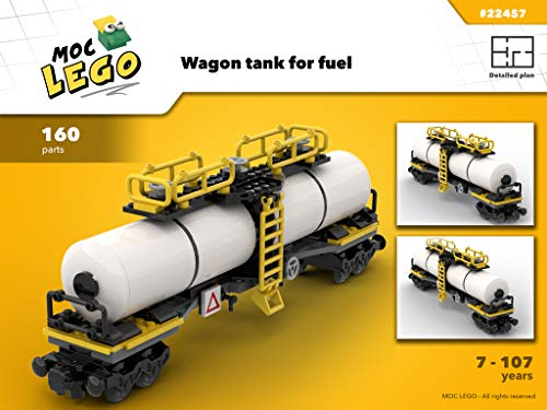 Train Wagon Tank for fuel (Instruction Only): MOC LEGO por Bryan Paquette