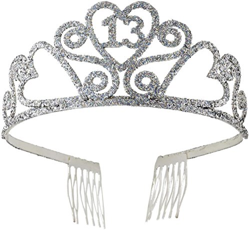 Glitter Tiara Birthday (Forum Novelties 13th Birthday Glitter Tiara)