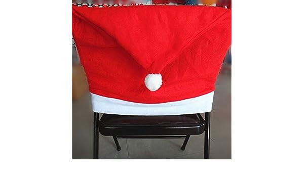 Amazon.com: Christmas Non Woven Hat Chair Decor Dinner Sets ...