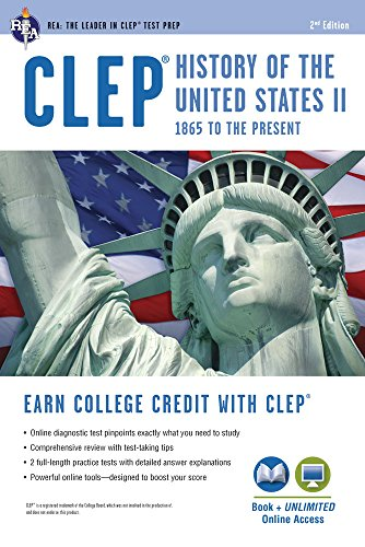 CLEP History of the U.S. II Book + Online (CLEP Test Preparation)