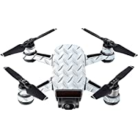 Skin For DJI Spark Mini Drone – Diamond Plate | MightySkins Protective, Durable, and Unique Vinyl Decal wrap cover | Easy To Apply, Remove, and Change Styles | Made in the USA