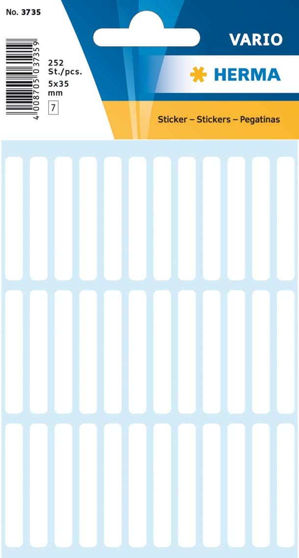 HERMA Multi-purpose labels 5x3mm white 252 pcs Etiqueta autoadhesiva 5 x 35 mm